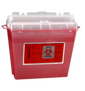 medical needle disposal container