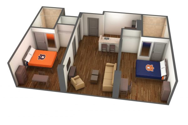 South Donahue Room 3D Side View
