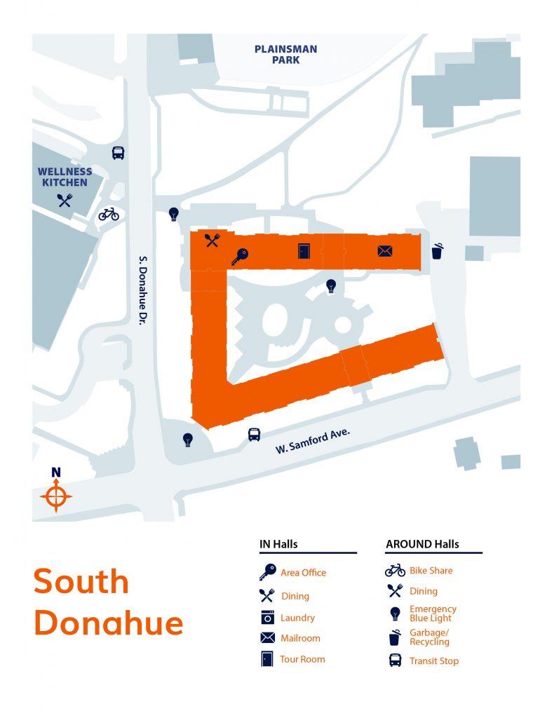 South Donahue neighborhood map