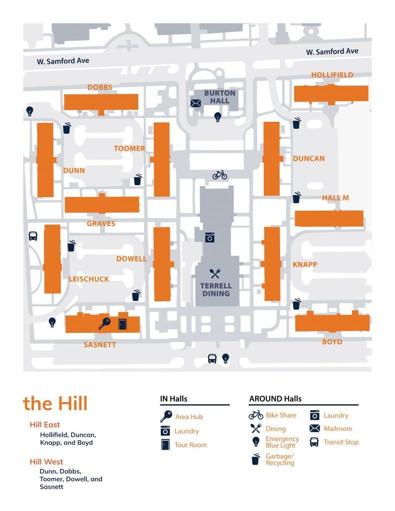 The Hill neighborhood map