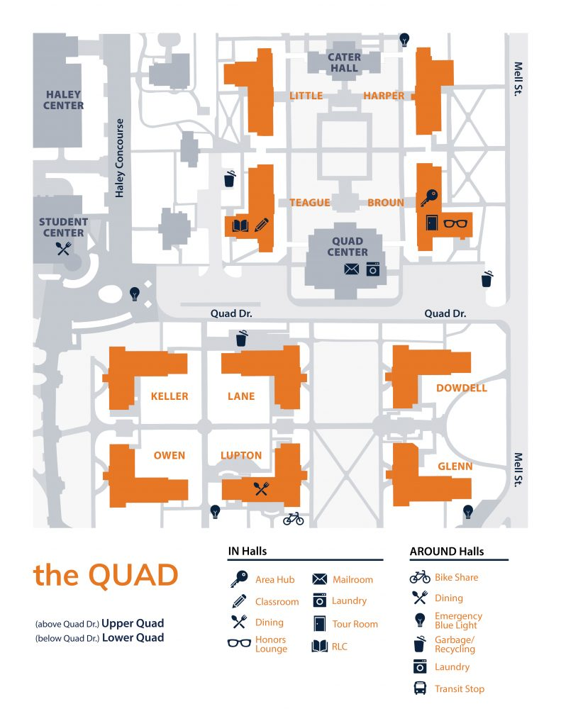 The Quad neighborhood map